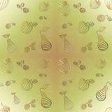 Pommes, poires et prunes - papier peint sans couture Images stock