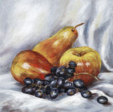 Pommes, poires, raisins Photos stock