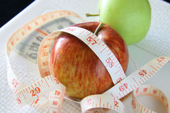 Pommes pour la perte et la santé de poids Photo libre de droits
