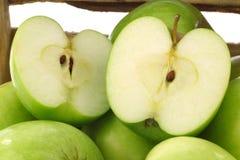 Pommes récemment récoltées de Smith de mémé Photo libre de droits