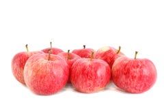Pommes rouges, d'isolement. Photos stock