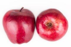 Pommes rouges d'isolement Photographie stock libre de droits