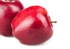 Pommes rouges d'isolement Photo stock
