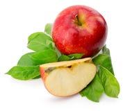 Pommes rouges d'isolement sur le fond blanc Photo libre de droits