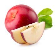 Pommes rouges d'isolement sur le fond blanc Photos libres de droits