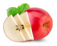 Pommes rouges d'isolement sur le fond blanc Photographie stock