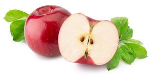 Pommes rouges d'isolement sur le fond blanc Photographie stock libre de droits