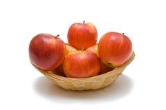 Pommes rouges dans frêle Image libre de droits