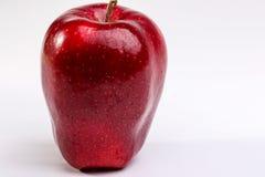 Pommes rouges Delicious sur le fond blanc Photos libres de droits