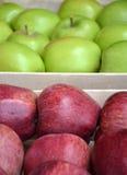 Pommes rouges et vertes Photographie stock
