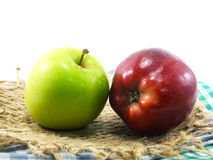 Pommes rouges et vertes Image stock