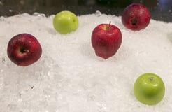Pommes rouges et vertes Photos stock