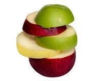 Pommes rouges, jaunes et vertes Photo libre de droits