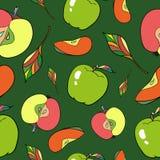 Pommes sans couture de modèle Photographie stock
