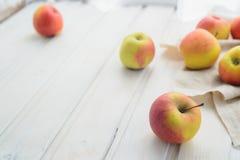 Pommes sur un blanc Image stock