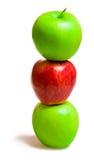 pommes trois photographie stock