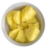 Pommes vapeur dans la cuvette Photographie stock libre de droits