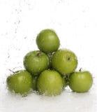 Pommes vertes Photos stock