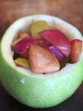 Pommes vertes cuites au four bourrées Photo libre de droits