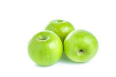 Pommes vertes d'isolement sur le fond blanc Photo libre de droits
