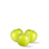 Pommes vertes d'isolement sur le fond blanc images stock