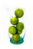 Pommes vertes dans le vase aka Fruitbowl Photos libres de droits