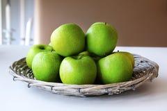 Pommes vertes de Smith de mémé Images libres de droits