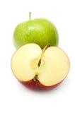Pommes vertes et rouges Photo libre de droits