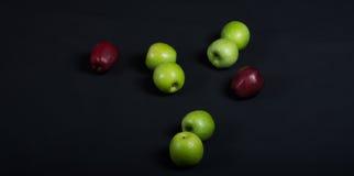 Pommes vertes et rouges Photographie stock