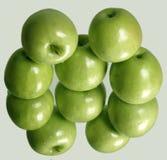 Pommes vertes mûres fraîches Images libres de droits