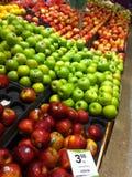 Pommes vertes rouges Image libre de droits