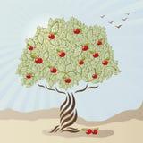 Pommier stylisé simple illustration stock