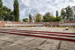 Pomników żołnierzy spadać Wielka Patriotyczna wojna anna Rosja Zdjęcie Stock