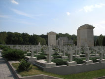 Pomników krzyże na grób Obrazy Royalty Free
