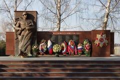 Pomników spadać wojownicy Wielka Patriotyczna wojna 1941-1945 Obraz Royalty Free