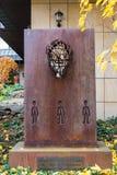 Pomnik «konferencja międzynarodowa na Afganistan 2001 « fotografia stock