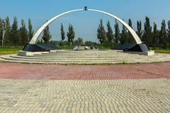 Pomnik żołnierze Omsk, ofiary lokalne wojny i gorący punkty Park kultura i odpoczynek wymieniający po 30th Obrazy Royalty Free