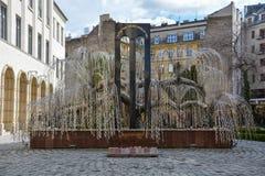 Pomnik dla holokaust ofiar przy Dohany synagoga w Bu fotografia stock