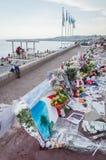 Pomnik dla 14th Lipa ofiary, Ładny, Francja Obrazy Royalty Free
