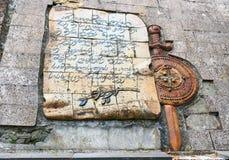 Pomnik Gruzińscy żołnierze zabijać podczas Wielkiej Patriotycznej wojny w Sighnaghi mieście Gruzja Obraz Royalty Free