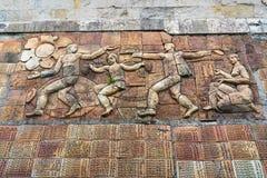Pomnik Gruzińscy żołnierze zabijać podczas Wielkiej Patriotycznej wojny w Sighnaghi mieście Gruzja Zdjęcia Stock