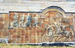 Pomnik Gruzińscy żołnierze zabijać podczas Wielkiej Patriotycznej wojny w Sighnaghi mieście Gruzja Zdjęcie Stock
