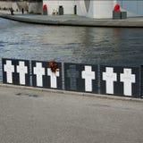 Pomnik krzyżuje ofiary ściana, Berlin Obraz Royalty Free