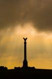 pomnik na polu bitwy Fotografia Stock