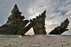Pomnik ofiary nazizm Ninth fort kaunas Lithuania Obrazy Stock