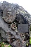 Pomnik Pierwszy Cudzoziemski Mt Fuji wycieczkowicza Sir Rutherford Alcock lokalizować w Mt Fuji Przyrodni sposób wierzchołek Mt F zdjęcie stock