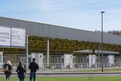 Pomnik, przejście graniczne Helmstedt-Marienborn poprzedni GDR granicy obraz royalty free