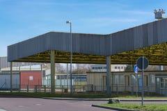 Pomnik, przejście graniczne Helmstedt-Marienborn poprzedni GDR granicy Obraz Stock