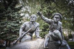 Pomnik przy Jakub Kolas kwadratem zdjęcie stock