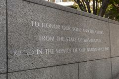 Pomnik przy ogródem wspominanie w Seattle, Waszyngton, usa obraz stock